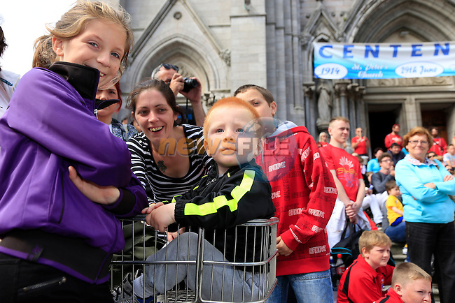 Gerry Coddington at the Samba festival in West street<br /> Picture:  Fran Caffrey www.newsfile.ie