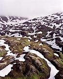 USA, Alaska, snowcapped Chugach mountains in the Chugach State Park