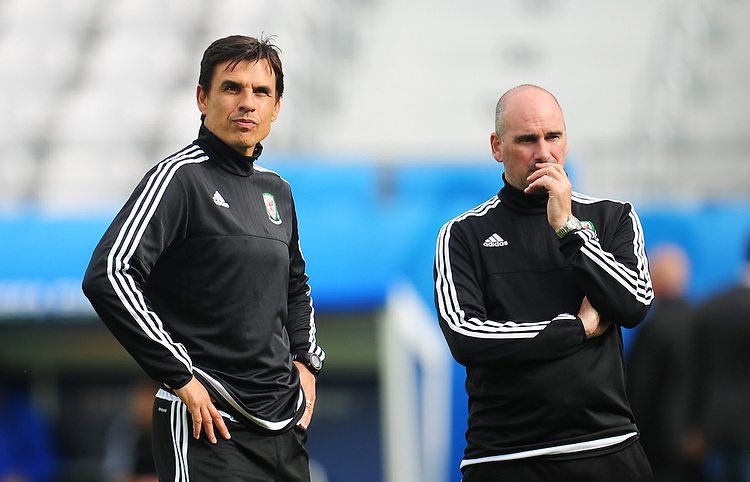 Wales's Manager Chris Coleman during todays training session<br /> <br /> Photographer Kevin Barnes/CameraSport<br /> <br /> International Football - 2016 UEFA European Championship - Training Session - Group B - England v Wales - Wednesday, 15th June 2016 - Stade Bollaert-Delelis, Lens Agglo, France<br /> <br /> World Copyright &copy; 2016 CameraSport. All rights reserved. 43 Linden Ave. Countesthorpe. Leicester. England. LE8 5PG - Tel: +44 (0) 116 277 4147 - admin@camerasport.com - www.camerasport.com