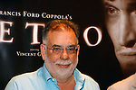 "Oct 30 2009 Athens Greece. Press conference with Francis Ford Coppola and the mayor of Athens Mr Nikitas Kaklamanis for the Greek film Festival ""Panorama of European Cinema"" in the city hall. Coppola preferred to present his new film ""Tetro"" at the festival of Athens instead of the festival in Cannes where he had been officially invited. Francis Ford Coppola awarded by the municipality of Athens for his contribution to the film industry. Credit Aristidis Vafeiadakis/ZUMA Press"