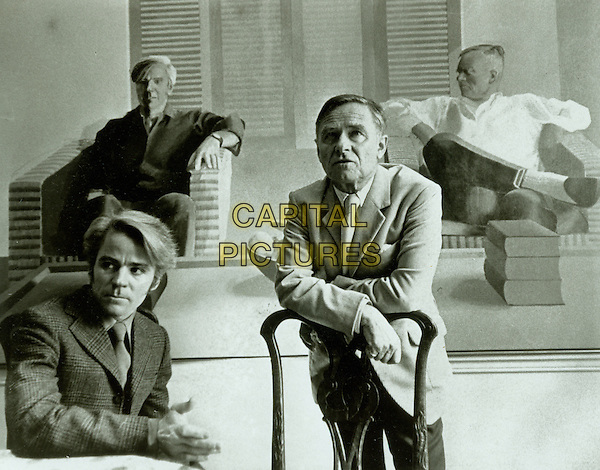 Don Bachardy and Christopher Isherwood sitting in front of David Hockney`s famous 1968 double portrait..in Chris & Don. A Love Story.*Filmstill - Editorial Use Only*.CAP/NFS.Supplied by Capital Pictures.