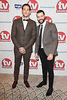 Glen Carloss and Jay Hutton<br /> arriving for the TV Choice Awards 2017 at The Dorchester Hotel, London. <br /> <br /> <br /> ©Ash Knotek  D3303  04/09/2017