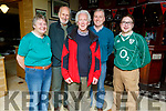 Margaret Kelliher, Richard Bono, Brendan Farmer, James Kelliher and Michael Quinn all from Tralee supporting Ireland against Italy in the 6 Nations Championship rugby game in the Mall Tavern on Sunday.