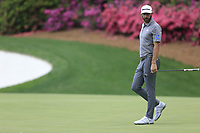 Dustin Johnson (USA) on the 13th green during the 1st round at the The Masters , Augusta National, Augusta, Georgia, USA. 11/04/2019.<br /> Picture Fran Caffrey / Golffile.ie<br /> <br /> All photo usage must carry mandatory copyright credit (&copy; Golffile | Fran Caffrey)