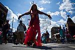 Revellers take part in the mermaid parade 2012 at Coney Island  in New York. June 23, 2012. Photo by Eduardo Munoz Alvarez / VIEW..