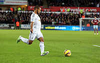 Pictured: Wayne Routledge of Swansea Saturday 10 January 2015<br />