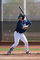 Milwaukee Brewers catcher Cooper Hummel (92) during a Minor League Spring Training game against the Kansas City Royals at Maryvale Baseball Park on March 25, 2018 in Phoenix, Arizona. (Zachary Lucy/Four Seam Images)