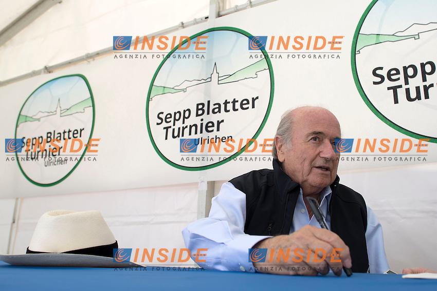 Sepp Blatter presidente FIFA <br /> 25.08.2013; Ulrichen<br /> Calcio <br /> Valeriano Di Domenico/freshfocus/Insidefoto