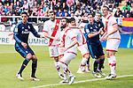 Rayo Vallecano's Jose Angel Crespo, Antonio Amaya, Roberto Trashorras and Miku and Real Madrid's Raphael Varane, Gareth Bale and Lucas Vazquez during La Liga match. April 23,2016. (ALTERPHOTOS/Borja B.Hojas)
