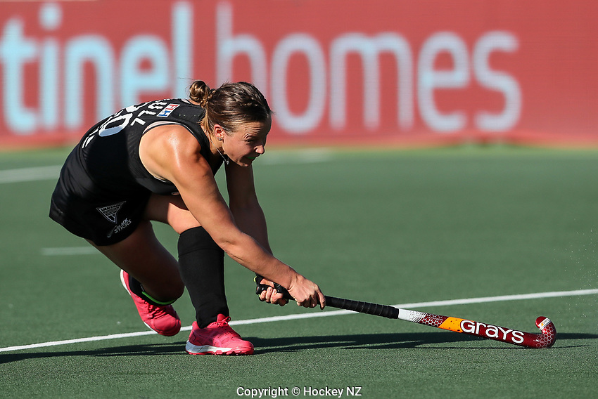 Megan Hull. Pro League Hockey, Vantage Blacksticks Women v Australia, ANZAC Hockey test. North Harbour Hockey Stadium, Auckland, New Zealand. Thursday 25 April 2019. Photo: Simon Watts/Hockey NZ
