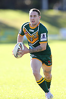 The Wyong Roos play Northern Lakes Warriors in Round 8 of the First Grade Central Coast Rugby League Division at Morry Breen Oval on 27th of May, 2019 in Kanwal, NSW Australia. (Photo by Paul Barkley/LookPro)