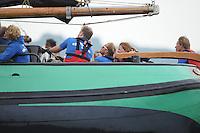 ZEILEN: LEMMER: Lemsterbaai, 08-08-2014, IFKS Skûtsjesilen, ©foto Martin de Jong