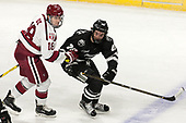 Adam Fox (Harvard - 18), Conor MacPhee (PC - 29) - The Harvard University Crimson defeated the Providence College Friars 3-0 in their NCAA East regional semi-final on Friday, March 24, 2017, at Dunkin' Donuts Center in Providence, Rhode Island.