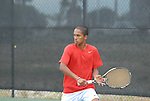April 25, 2012; San Diego, CA, USA; Gonzaga Bulldogs athlete Muzeen Ismath during the WCC Tennis Championships at the Barnes Tennis Center.