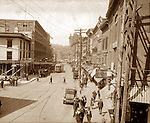 WATERBURY, CT 1922 Bank Street. Republican-American Archive photo by Frederick Stone negative.