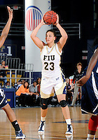 Florida International University forward Finda Mansare (23) plays against Florida Atlantic University which won the game 50-49 on January 21, 2012 at Miami, Florida. .