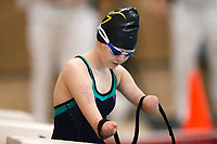 Picture by Richard Blaxall/SWpix.com - 15/04/2018 - Swimming - EFDS National Junior Para Swimming Champs - The Quays, Southampton, England - Ellie Challis of Colchester prepares for the Women's MC 50m Backstroke