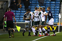 Tempers flare in the second half during Millwall vs Barnsley, Emirates FA Cup Football at The Den on 6th January 2018