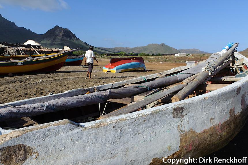 Fischer in Baias das Gatas, Sao Vicente, Kapverden, Afrika
