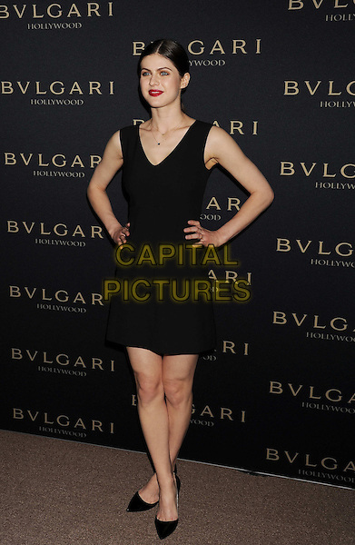 WEST HOLLYWOOD, CA- FEBRUARY 25: Actress Alexandra Daddario arrives at the BVLGARI 'Decades Of Glamour' Oscar Party Hosted By Naomi Watts at Soho House on February 25, 2014 in West Hollywood, California.<br /> CAP/JOR<br /> &copy;Nils Jorgensen/Capital Pictures