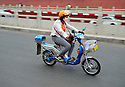 29/05/08 - SHOUGUANG - SHANDONG - CHINE - Scooter electrique - Photo Jerome CHABANNE