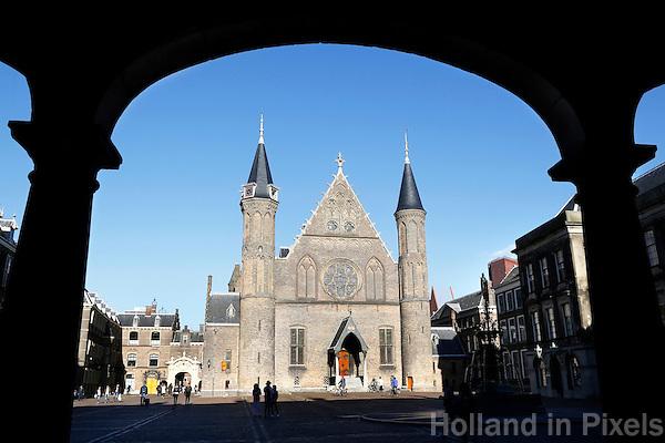 Nederland Den Haag 2015 09 27. Het Binnenhof met de Ridderzaal, voor de verbouwing