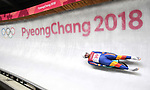 Andrei Turea (ROU). Mens luge. Pyeongchang2018 winter Olympics. Alpensia sliding centre. Alpensia. Gangneung. Republic of Korea. 11/02/2018. ~ MANDATORY CREDIT Garry Bowden/SIPPA - NO UNAUTHORISED USE - +44 7837 394578