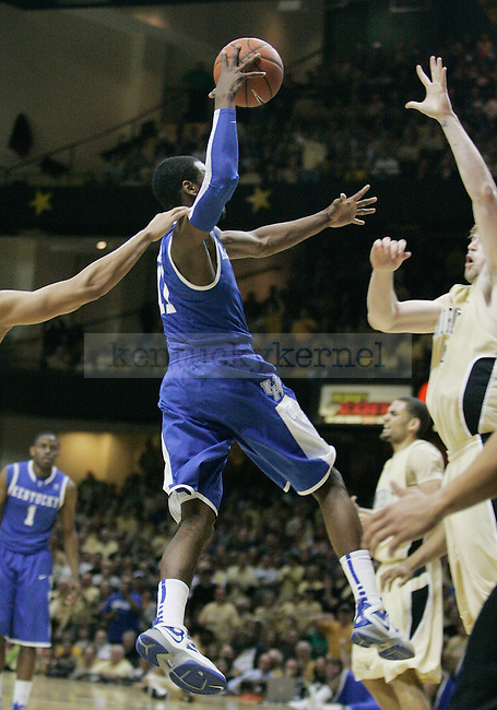 Freshman guard John Wall goes in for a dunk in the second half of UK's 58-56 win over  Vandy at Memorial Gymnasium in Nashville on Saturday, Feb. 20. 2010. Photo by Britney McIntosh | Staff