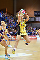 Elias Shadrock in action during the ANZ Championship - Mojo Pulse v Queensland Firebirds at Te Rauparaha Arena, Porirua, New Zealand on Sunday 8 March 2015. <br /> Photo by Masanori Udagawa. <br /> www.photowellington.photoshelter.com.