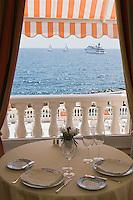 Europe/France/Provence-Alpes-Côte d'Azur/06/Alpes-Maritimes/Beaulieu-sur-Mer: Hôtel: La Réserve de Beaulieu - le restaurant