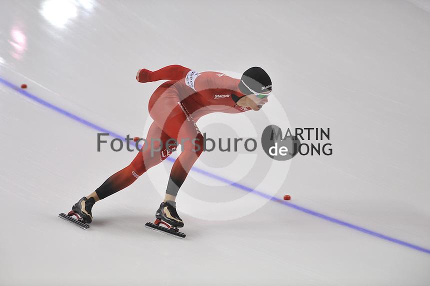 SCHAATSEN: CALGARY: Olympic Oval, 08-11-2013, Essent ISU World Cup, 1500m, Simen Spieler Nilsen (NOR), ©foto Martin de Jong
