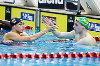 (L to R) CHUPKOV Anton  WILSON Matthew <br /> 200 Breaststroke Men Final Gold and Silver Medal<br /> Day04 28/08/2015 - OCBC Aquatic Center<br /> V FINA World Junior Swimming Championships<br /> Singapore SIN  Aug. 25-30 2015 <br /> Photo A.Masini/Deepbluemedia/Insidefoto