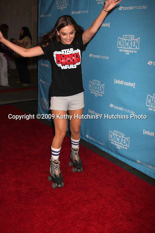 Rachel Leigh Cook  arriving at the Robot Chicken Skate Party Bus Tour Event  at Skateland, in Northridge,  CA on August 1, 2009 .©2009 Kathy Hutchins / Hutchins Photo..