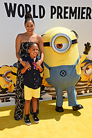 Tia Mowry &amp; Cree Taylor Hardrict at the world premiere for &quot;Despicable Me 3&quot; at the Shrine Auditorium, Los Angeles, USA 24 June  2017<br /> Picture: Paul Smith/Featureflash/SilverHub 0208 004 5359 sales@silverhubmedia.com