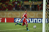 Hungary's  Krisztian Nemeth (9) watches as his shot makes a goal against Italy during the FIFA Under 20 World Cup Quarter-final match at the Mubarak Stadium  in Suez, Egypt, on October 09, 2009. Hungary won 2-3 in overtime.