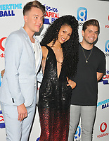 Roman Kemp, Vick Hope and Sonny Jay Muharrem at the Capital FM Summertime Ball 2018, Wembley Stadium, Wembley Park, London, England, UK, on Saturday 09 June 2018.<br /> CAP/CAN<br /> &copy;CAN/Capital Pictures