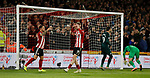 Billy Sharp of Sheffield Utd and Oli McBurnie of Sheffield Utd react to a missed chance during the Premier League match at Bramall Lane, Sheffield. Picture date: 5th December 2019. Picture credit should read: Simon Bellis/Sportimage