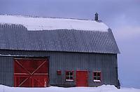 Amérique/Amérique du Nord/Canada/Quebec/Rivière-Eternité : Grange