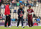 29th September 2017, Ageas Bowl, Southampton, England; One Day International Series, England versus West Indies; Moeen Ali of England prepares to bowl