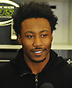 Brandon Marshall #15, New York Jets wide receiver, speaks to the media at Atlantic Health Jets Training Center in Florham Park, NJ on Monday, Jan. 2, 2017. Players cleaned out their lockers one day after their 5-11 season concluded.