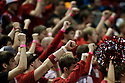 December 14, 2013: Nebraska students holding up a fist for a free throw atempt against the Arkansas State Red Wolves at the Pinnacle Bank Areana, Lincoln, NE. Nebraska defeated Arkansas State 79 to 67.
