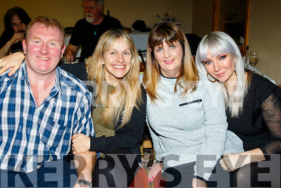 L-R John Reidy, propriator of O'Riada's, Sharon Shannon, Mary Jones and Karina Karie.