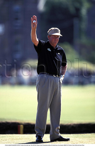 COLIN MONTGOMERIE (SCO), holds the ball up, The British Open Golf Championship, St Andrews, Scotland, 000722. Photo: Glyn Kirk/Action Plus...2000.golfer golfers