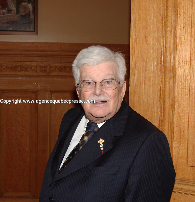 Montreal (Qc) CANADA -October 9 2007 -<br /> Paul Guerin-Lajoie ,<br /> Gala des Grands Montrealais a l'Hotel de Ville de Montreal<br /> <br /> <br /> <br /> <br /> photo : Pierre Roussel /  Images Distribution