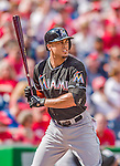 22 September 2013: Miami Marlins outfielder Giancarlo Stanton in action against the Washington Nationals at Nationals Park in Washington, DC. The Marlins defeated the Nationals 4-2 in the first game of their day/night double-header. Mandatory Credit: Ed Wolfstein Photo *** RAW (NEF) Image File Available ***