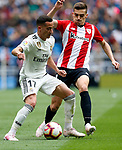 Real Madrid CF's Lucas Vazquez Athletic Club de Bilbao's Inigo Cordoba during La Liga match. April 21, 2019. (ALTERPHOTOS/Manu R.B.)
