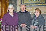 Catherine Flynn, Jim Moynihan and Marie Moynihan at the Mass for the sick in St Mary's Cathedral on Saturday..