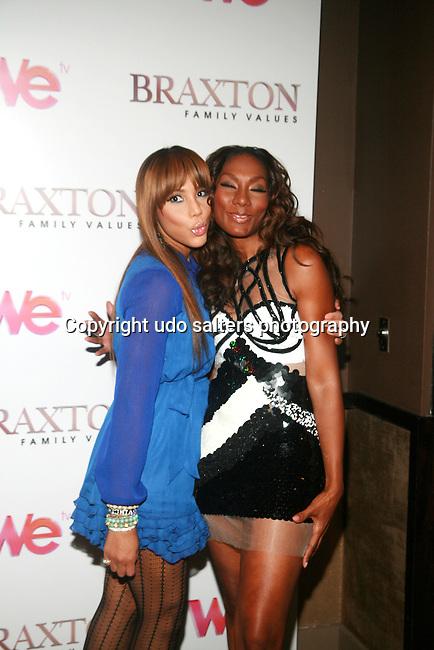 Tamar Braxton and Towanda Braxton Attend Premiere Screening of BRAXTON FAMILY VALUES Season 2 Held at Tribeca Grand, NY 11/8/11
