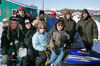 "Monday March 12, 2007   ----   Local and ""imported"" volunteers at Kaltag stop for a group photo.   Pictured are checkers, vets, communications people and helpers."
