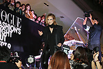 September 9, 2017, Tokyo, Japan - Japanese singer and composer YOSHIKI smiles after he played piano before hundreds of shoppers at the opening ceremony for the Vogue Fashion's Night Out 2017 in Tokyo on Saturday, September 9, 2017. Some 630 shops participated one-night fashion shopping event in Tokyo. (Photo by Yoshio Tsunoda/AFLO) LWX -ytd-